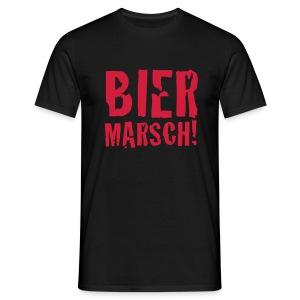 Bier Marsch schwarz - Männer T-Shirt