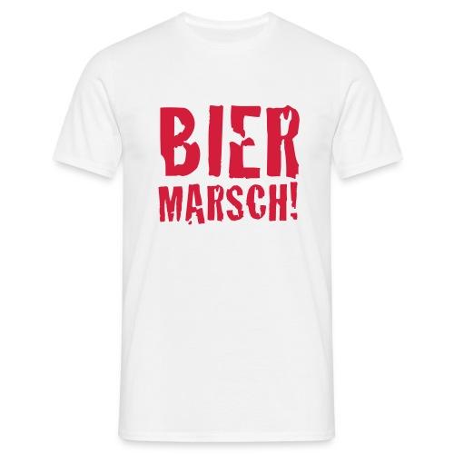Bier Marsch weiss - Männer T-Shirt