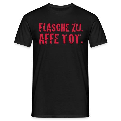 Affe tot schwarz - Männer T-Shirt