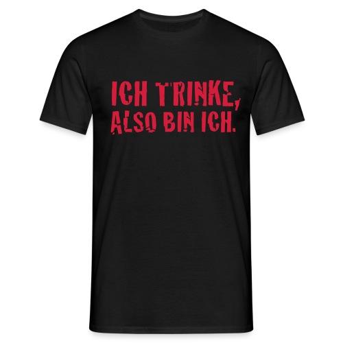 Ich trinke schwarz - Männer T-Shirt
