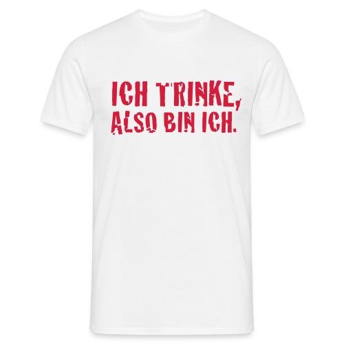 Ich trinke weiss - Männer T-Shirt