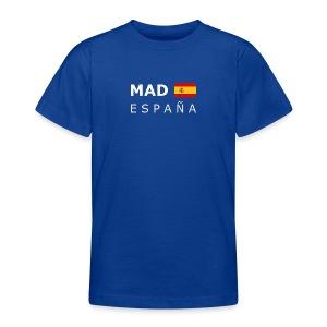 Teenager T-Shirt MAD ESPAÑA white-lettered - Teenage T-shirt