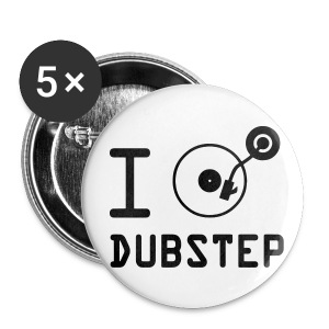 Dubstep Button Pack of 5 - Buttons small 25 mm