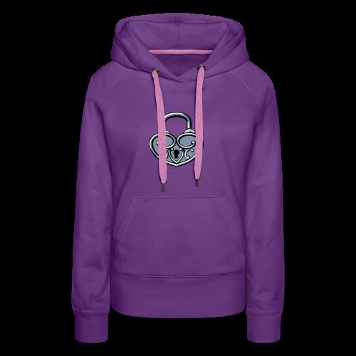 Pop My Lock 3D-Silver - Women's Premium Hoodie