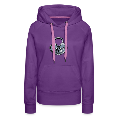Pop My Lock 3D-Silver - Women's Premium Hoodie