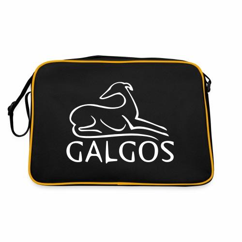 Galgo liegend - Retro Tasche
