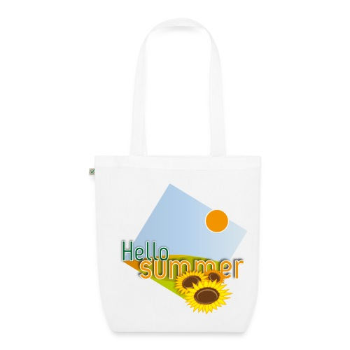 Shopping Bag Girasoli in materiale ecologico  - Borsa ecologica in tessuto