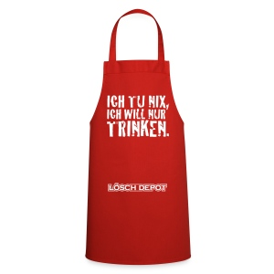 schürze rot ich will nur trinken - Kochschürze
