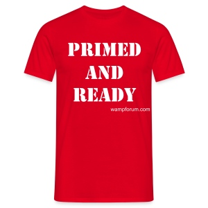 Mens 'primed and ready' - Men's T-Shirt