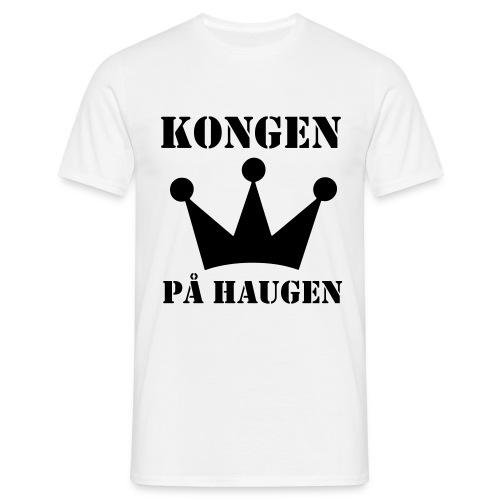 Kongen på haugen! - T-skjorte for menn