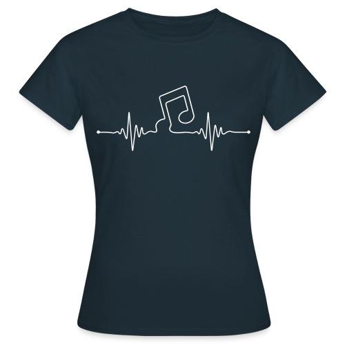 liveline note - Frauen T-Shirt