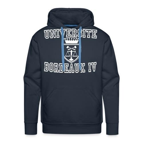 Sweat-shirt à capuche Premium pour hommes - bordeaux 4 apparel,bordeaux apparel,sweatshirt universite bordeaux 4