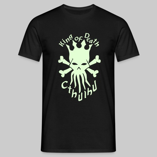 MTSgdmT: Cthulhu - King of Death (with Text - glow in the dark) - Men's T-Shirt