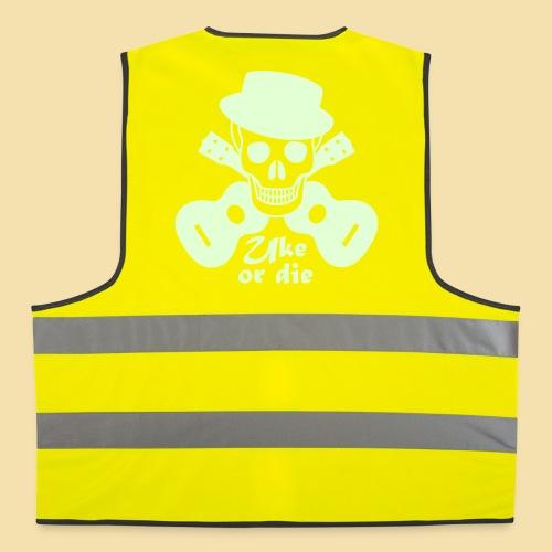 Warnweste: Uke or die Motiv (beige) - Warnweste