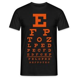 Orange Eye Chart - Man - Mannen T-shirt