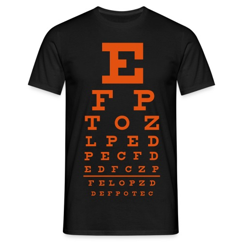 Orange Eye Chart - Man - Mannen T-shirt