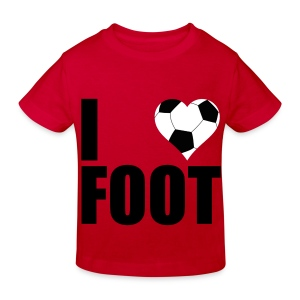 I love foot Skjorter - Økologisk T-skjorte for barn