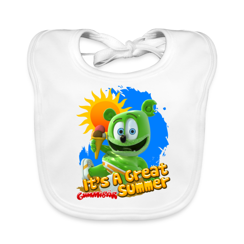 It's A Great Summer Organic Baby Bib - Baby Organic Bib