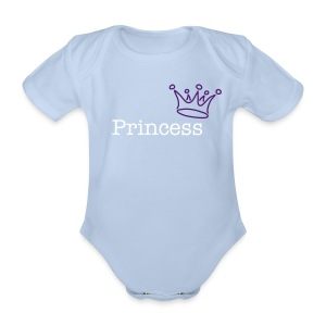 Princess - Organic Short-sleeved Baby Bodysuit