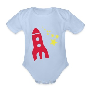Rocket Short Sleeve Romper - Organic Short-sleeved Baby Bodysuit
