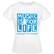 T-Shirts ~ Women's T-Shirt ~ music life (F)