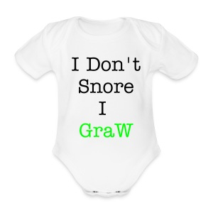 BacK2GraW Baby Doesn't Snore - Organic Short-sleeved Baby Bodysuit