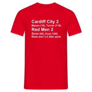 Cardiff City 2 Reds 2 (Carling Cup Winners) - Men's T-Shirt
