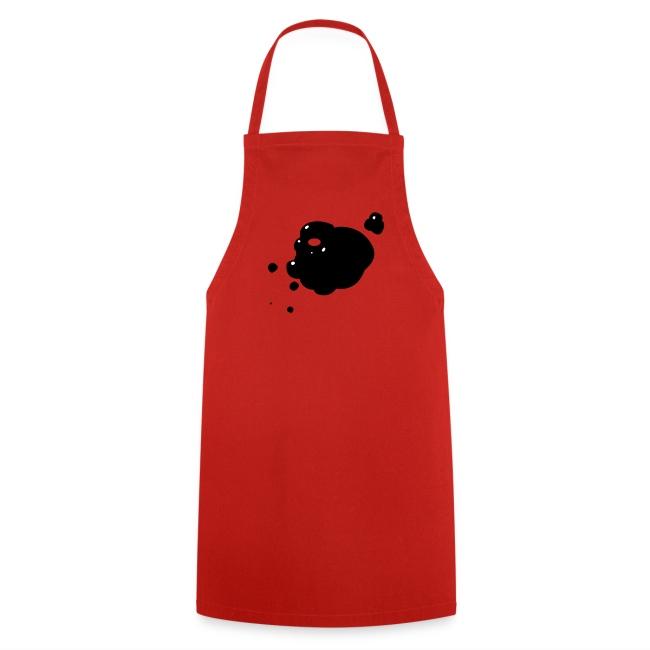 keukenschort met vlek (handig)