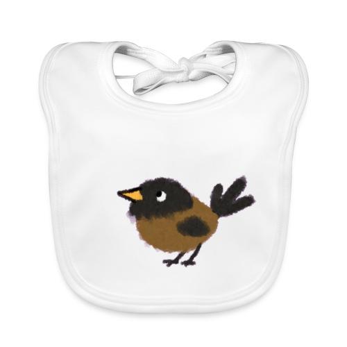 slabbetje (bio) met lief vogeltje - Bio-slabbetje voor baby's
