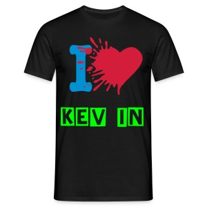 I Love Kev In Shirt - Männer T-Shirt