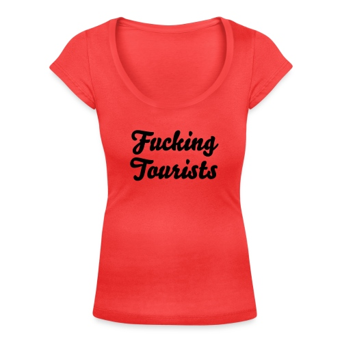 Fucking tourists - T-shirt scollata donna