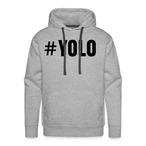 #YOLO-XCLUSIVE - Mens Sweater grey/black - Männer Premium Hoodie