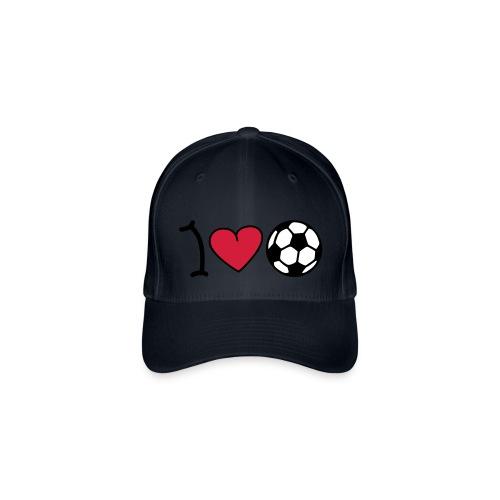 I Love Fußball Cap - Flexfit Baseballkappe