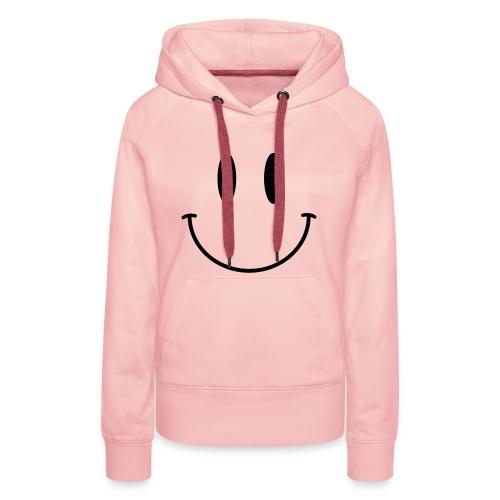 Pink Acid Smiley Hoodie (Ladies) - Women's Premium Hoodie