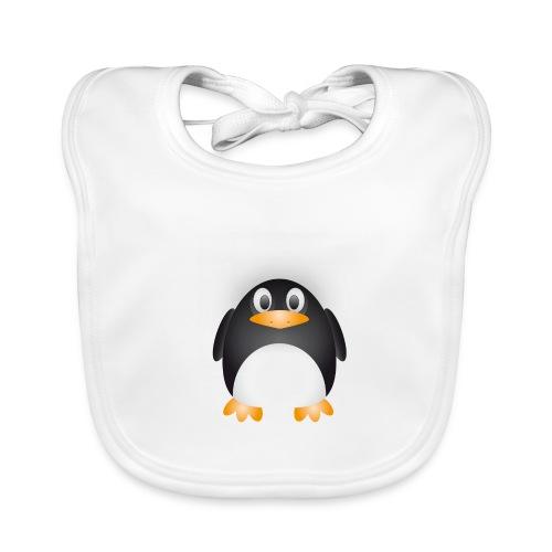 Funshirt dicker süßer Pinguin - Baby Bio-Lätzchen