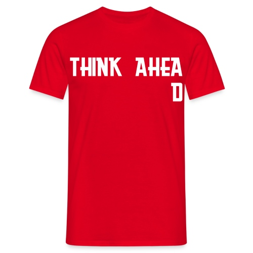 'Think Ahead' tee - red - Men's T-Shirt