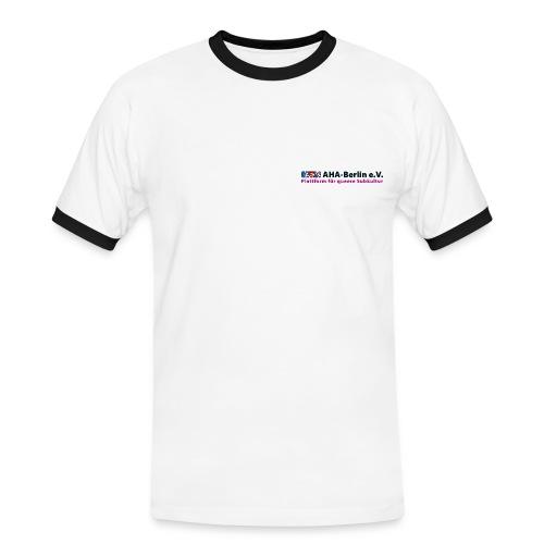 AHA-Kontrast-Shirt (schwarze Schrift) - Männer Kontrast-T-Shirt