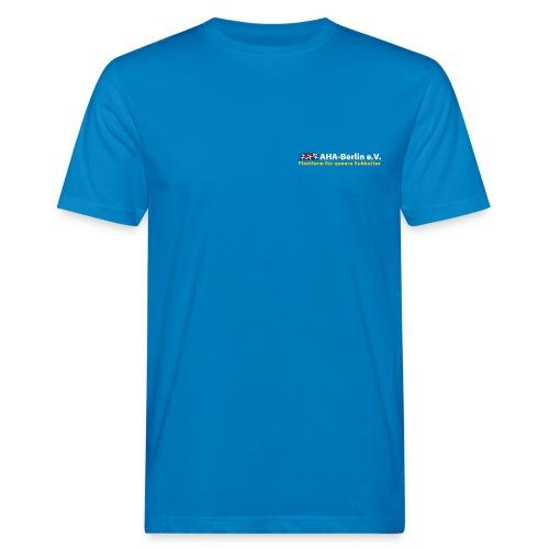 AHA-Shirt (klimaneutral, weiße Schrift) - Männer Bio-T-Shirt