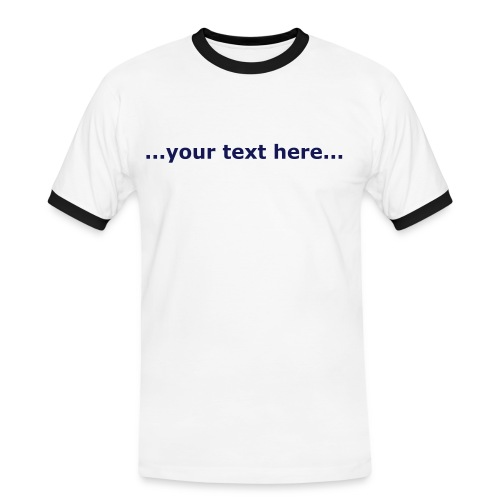 Advertise your business, email your logo to studio@udesign.co.uk today - Men's Ringer Shirt