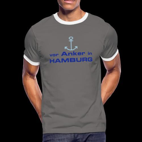 Vor Anker in Hamburg - Männer Kontrast-T-Shirt