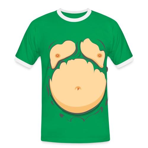 MANNEN SHIRT BIERBUIK - Mannen contrastshirt