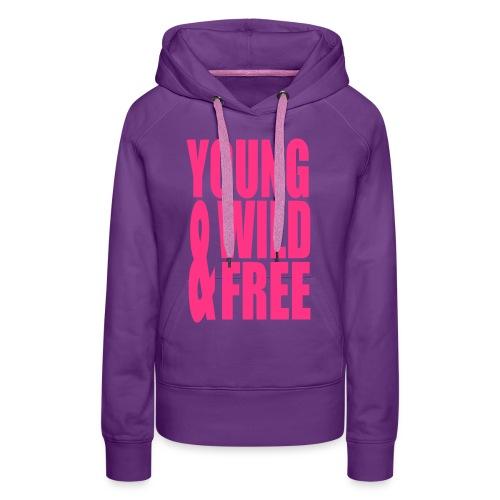 Trui Young, Wild & Free paars - Vrouwen Premium hoodie