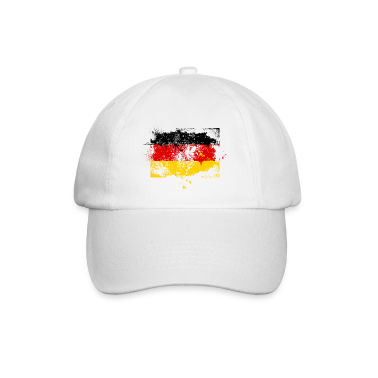 Germany flag banner grunge graffiti style German pride football Caps & Hats