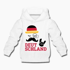 Germany fashionable gentleman championship victory gold football flag moustache Kids' Tops