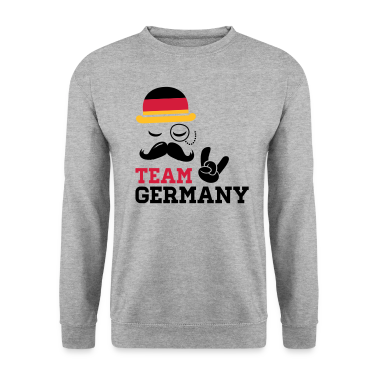 Germany team fashionable championship winner gold medal olympics football flag moustache Hoodies & Sweatshirts