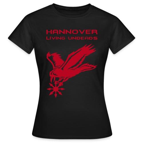 Frauen T-Shirt klassisch  HLU klein +Name - Frauen T-Shirt