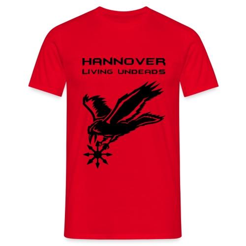 Männer T-Shirt klassisch  HLU klein +Name - Männer T-Shirt