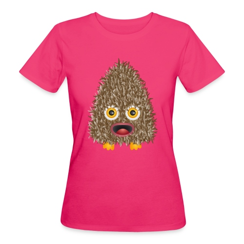 Funshirt Wuschelmonster Eule - Frauen Bio-T-Shirt