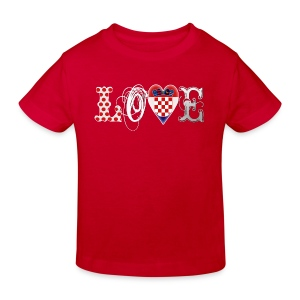 Love Croatia White Kinder T-Shirts - Kinder Bio-T-Shirt