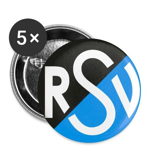 RSV Button 25mm (Fünfer-Pack) - Buttons klein 25 mm (5er Pack)